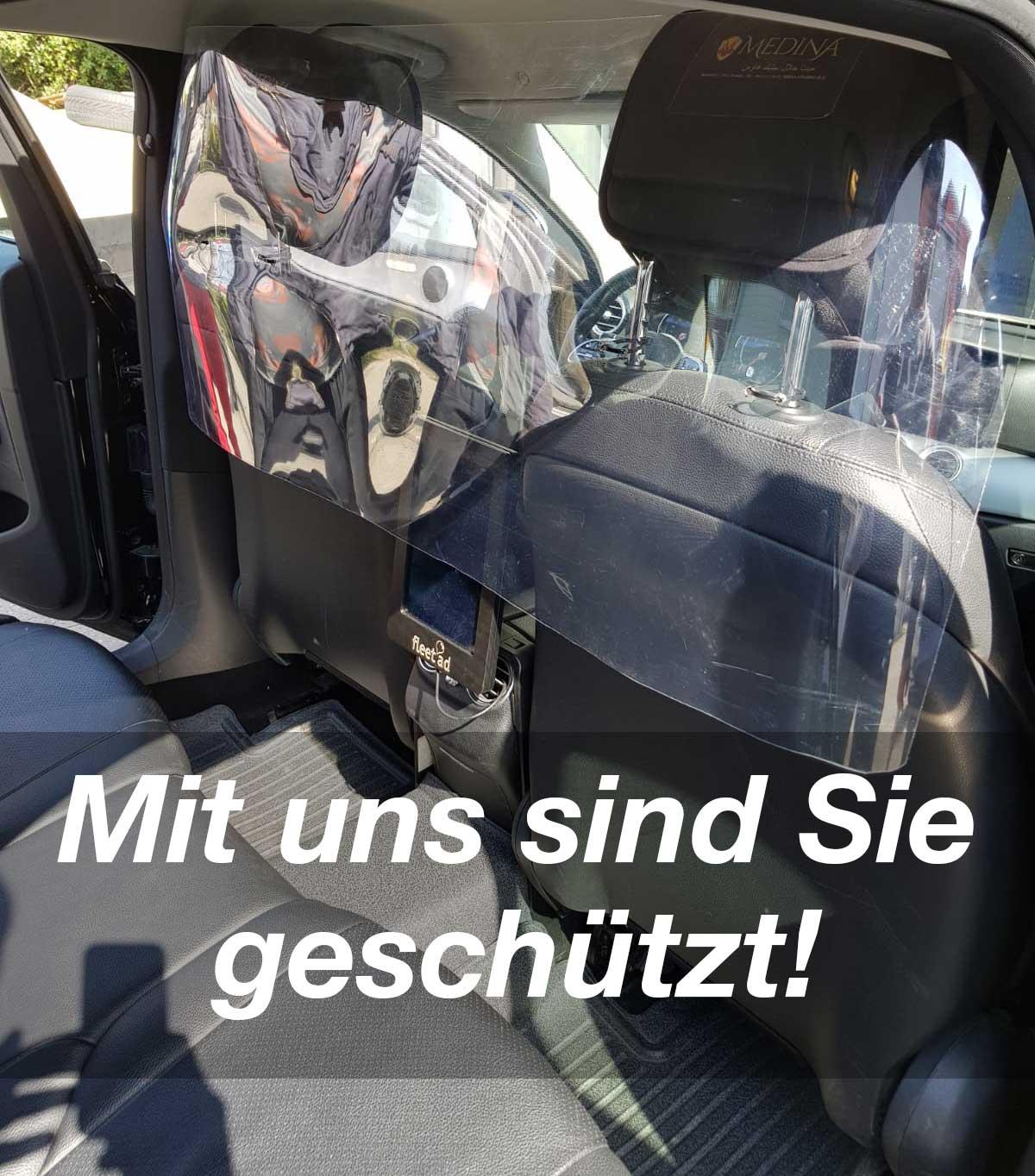 Coronaschutz im Taxi